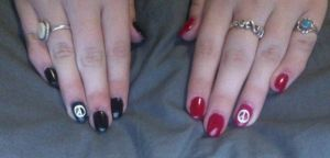 My Nails  With Coup D'etat design/initials by Kpopgirl4ever