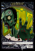 Zombie MtG Custom Token by Cassaa