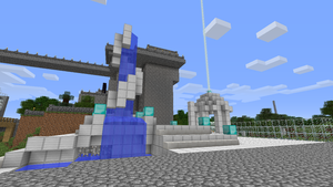 Minecraft Fountain and Shrine by Artisticat86