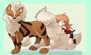 Arcanine Love by blackXXraine