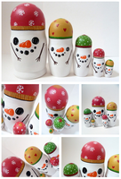Snowmen Russian Dolls by ponychops