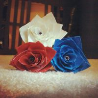 Duct tape flowers! by Haylee12344