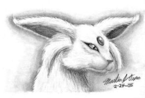 Espeon head sketch by Eclipsis