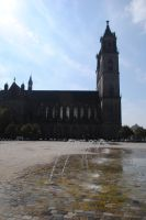 Domplatz Magdeburg stock by Muse-of-Stock