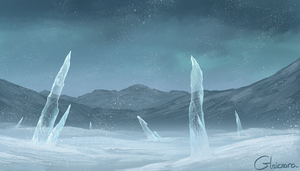Winter in a Dark World : 30 Minute Speed Painting by Glaiceana