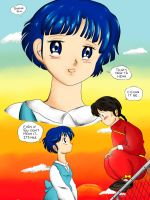 Ranma and Akane by Kumadawg