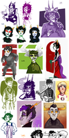 Homestuck dump 3 by SIIINS