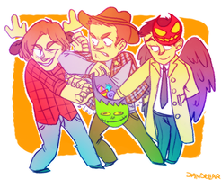 halloween supernatural shenanigans by dandeliar