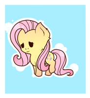 Little Chibi Fluttershy. by Krezeban
