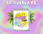 50 Overlays gg by LiveInTheColors