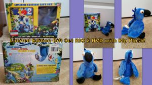 Limited edition Rio 2 gift set with blu plush! by Vesperwolfy87