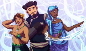 Famous Water Tribe Avatars (Leke, Sokka, O'lina) by Avield