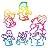 Care Bears Brushes by ki-cek