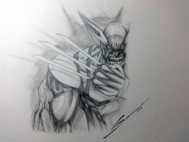 Wolverine sketch by Sandoval-Art