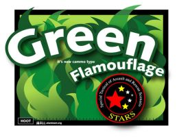 Green Flamouflage by sijerry