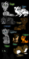 Warrior Cats-Oots-Forgotten Warrior-Characters by StarMapleStar