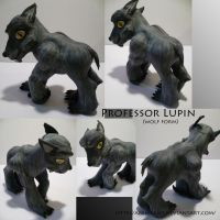 Professor Lupin Wolf Form by AnimeAmy