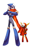 megaman-older brothers by Nyaph