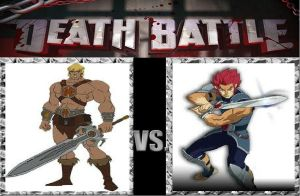 Death Battle: He-Man vs Lion-O by MadnessAbe