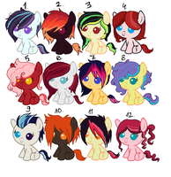 Pony Adoptables 2 OPEN by Rubrum-Luna