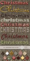 24+ Christmas Photoshop Styles by Divenadesign