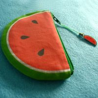 What a Melon coin purse by Mimi-Mushroom