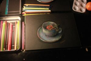 3rd step of 4 still life by Rebate-BrainVomit