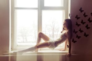 Dasha on the windowsill by avallonis