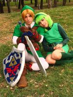 TLoZ Ocarina Of Time : Link and Saria by Nani-Dechuka