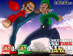 Super Smash Bros - Mario vs Luigi by ssoudybono