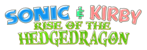 Sonic and Kirby Rise of the Hedgedragon Logo by KingAsylus91