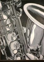 Saxaphone by prismacolorjessie