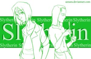 Young_Snape n Lucius_Slytherin by Aznara