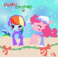 christmas ponies :3 by echotheglaceon