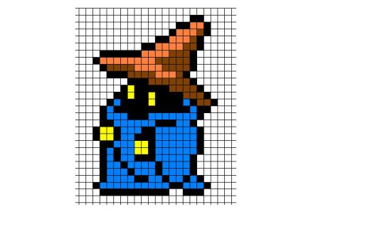 Black Mage sprite by songofstorms422