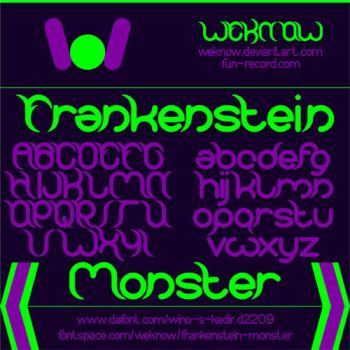 Frankenstein Monster font by weknow by weknow