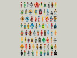Limited Edition Pixel Heroes by Pahito by Design-By-Humans
