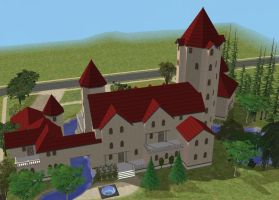 Sims 2 castle by RamboRocky