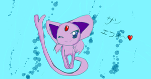 Espeon Sketch by KlovahKat