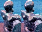 Not Henry Moore's Pool Side Madonna Of Port Ligat by aegiandyad