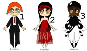 Picture Adoptables: Humanoids 2 by Literate-Adopts