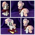 Sweetie Belle Plushie w/Cape by equinepalette