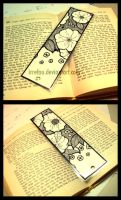 Black White Flowers +Bookmark+ by IrreFou
