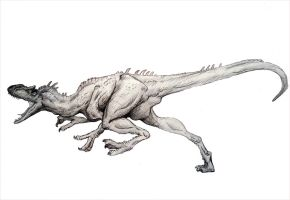 Allosaurus fragilis by D3-Arts