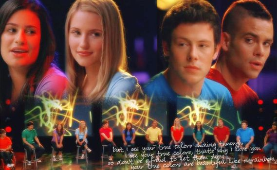 Glee Wallpaper by xx-dreamingsoul