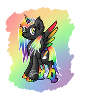 Queen Rainbow Glitter TwinkleBeam by Violyre