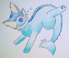 Vaporeon by Supercyborgdino