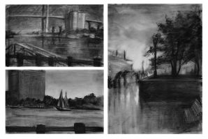 Value Studies - River St. by skybrush