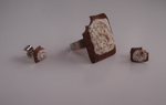 Chocolate Poptart Ring and Earrings by Chibi-Garrador
