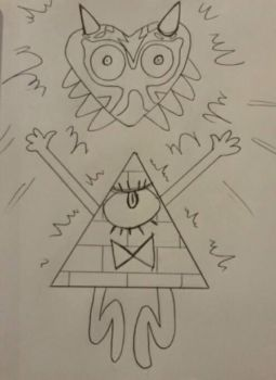 Inktober dia 30 Bill Cypher y la Majoras Mask by HaruEta